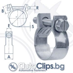 Мини усилена скоба за маркучи ⌀ 6mm